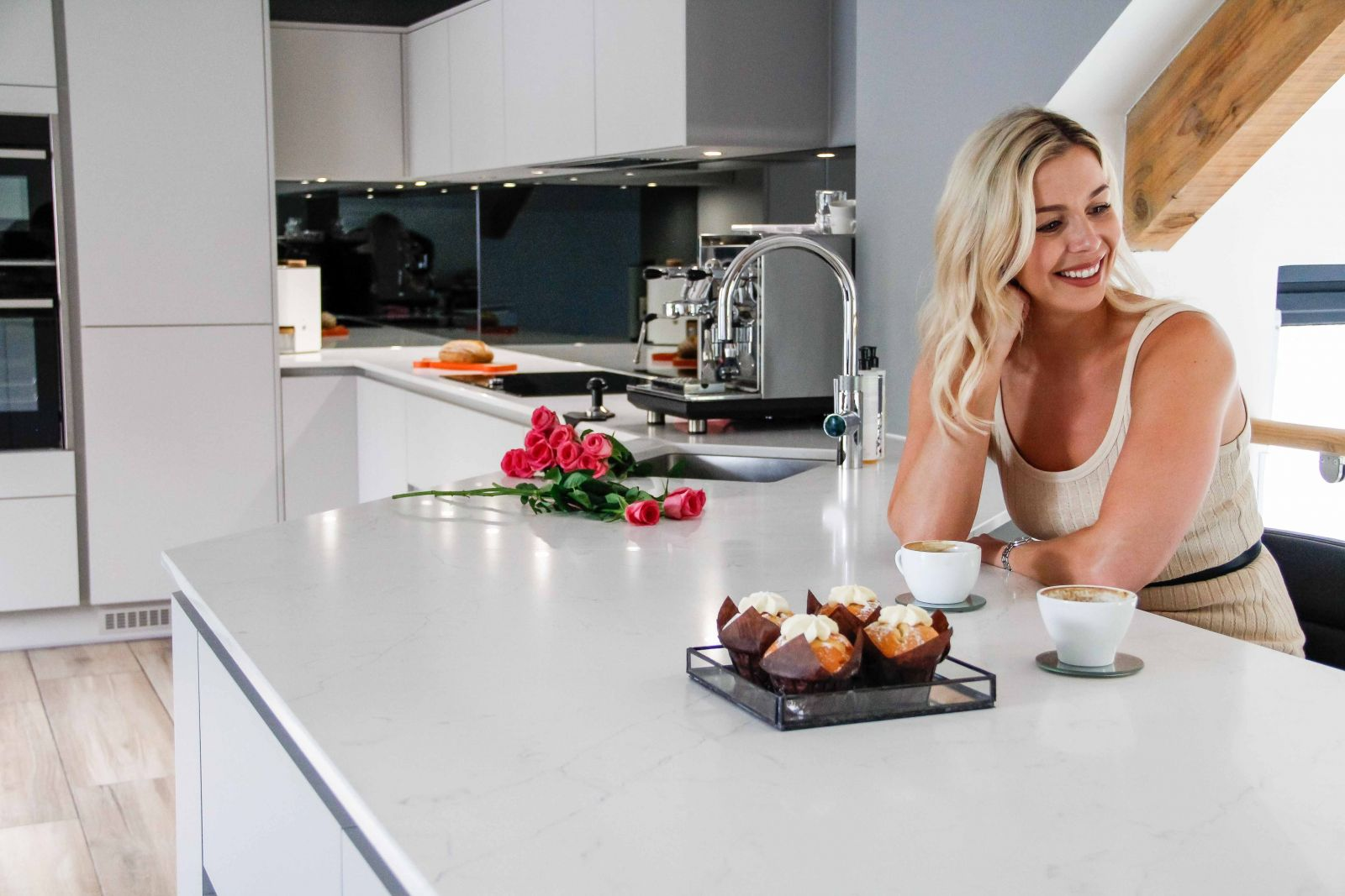 Becky and George North in their Sigma 3 Kitchen