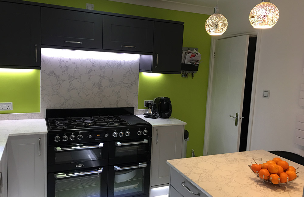 Chatsworth Light Grey and Graphite wall cabinets - Real ...