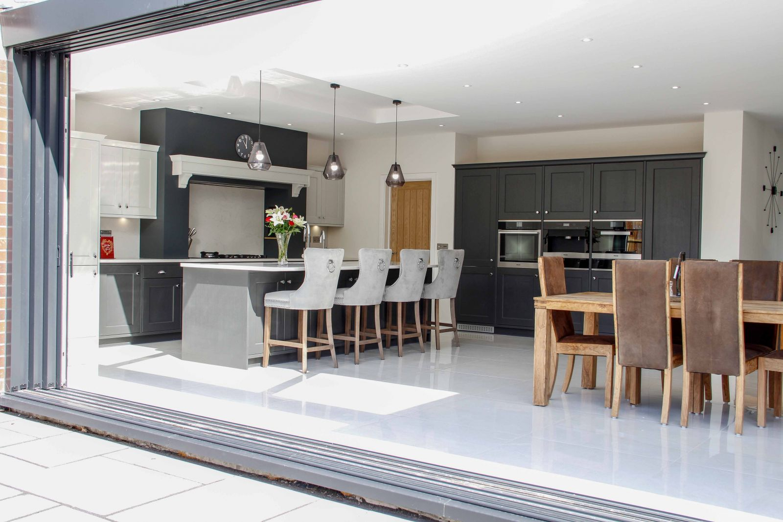 Classic Shaker Kitchen in Grey and White by Sigma 3 Kitchens
