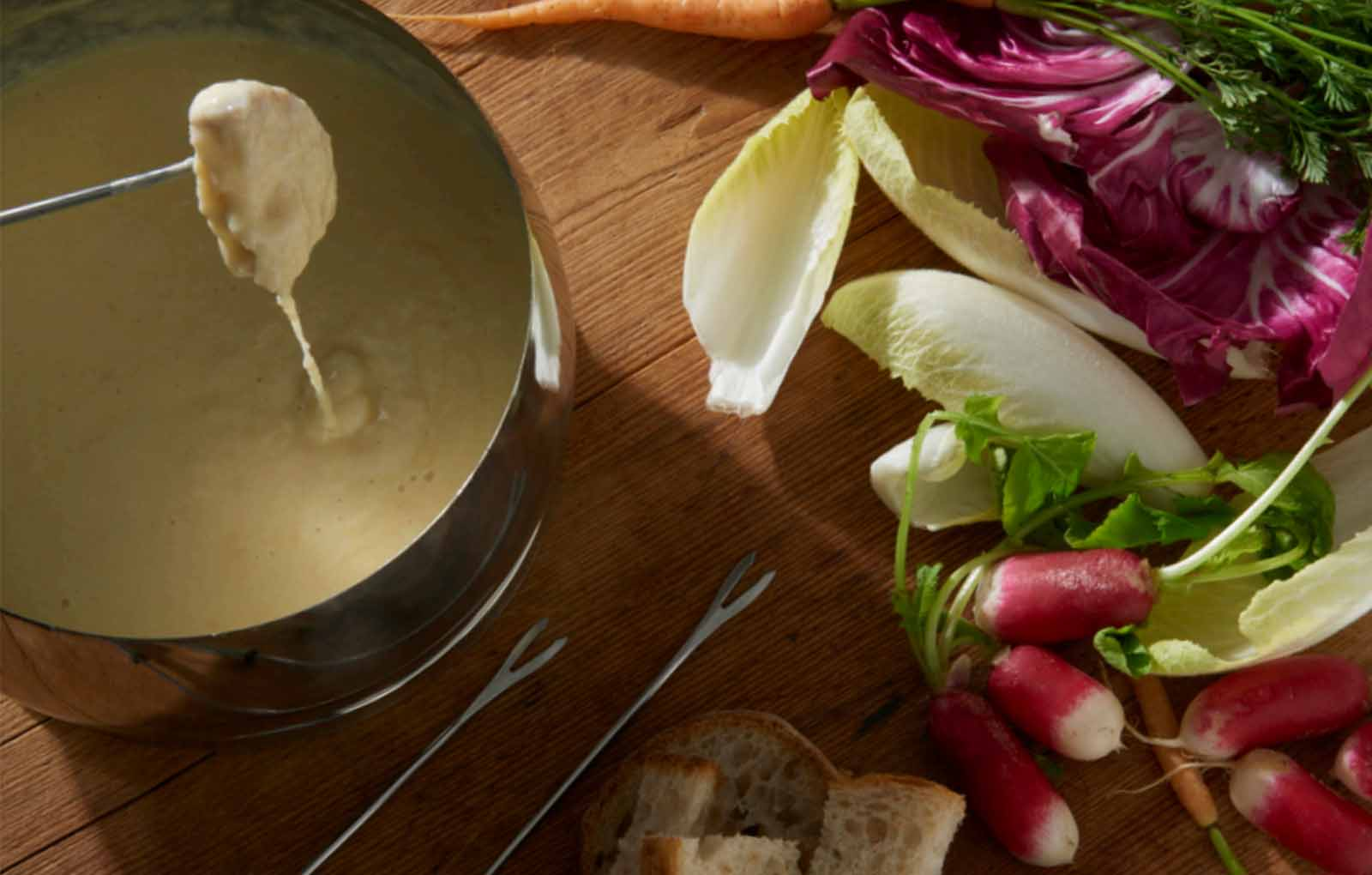 Cheese Fondue. The starter for Sigma 3 Kitchens Valentines Day recipe by Neff