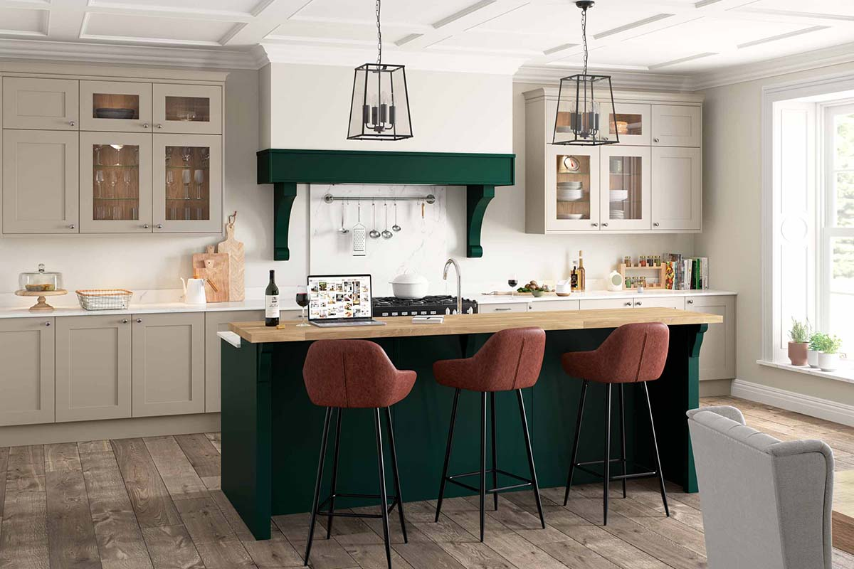 Hunter Green Kitchen Colour by Sigma 3 Kitchens