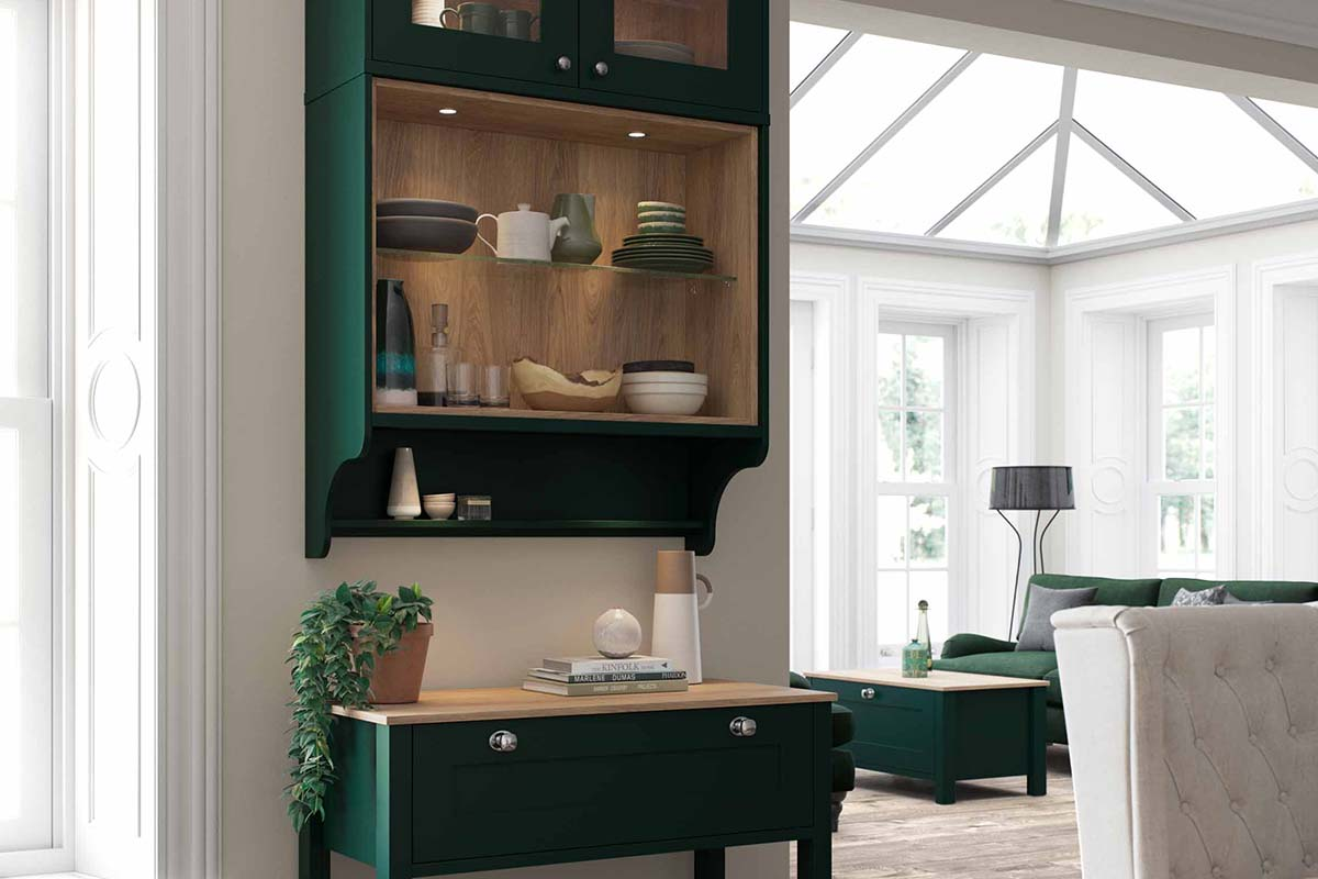 Hunter Green Living Collection of Free Standing Furniture by Sigma 3 Kitchens