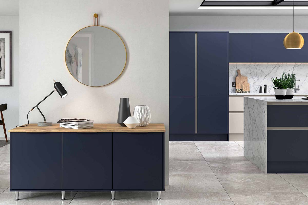 Inkwell Dark Blue Living Collection Free Standing Furniture by Sigma 3 Kitchens