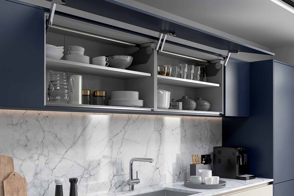 Inkwell Dark Blue Linea Kitchen Cabinets by Sigma 3 Kitchens