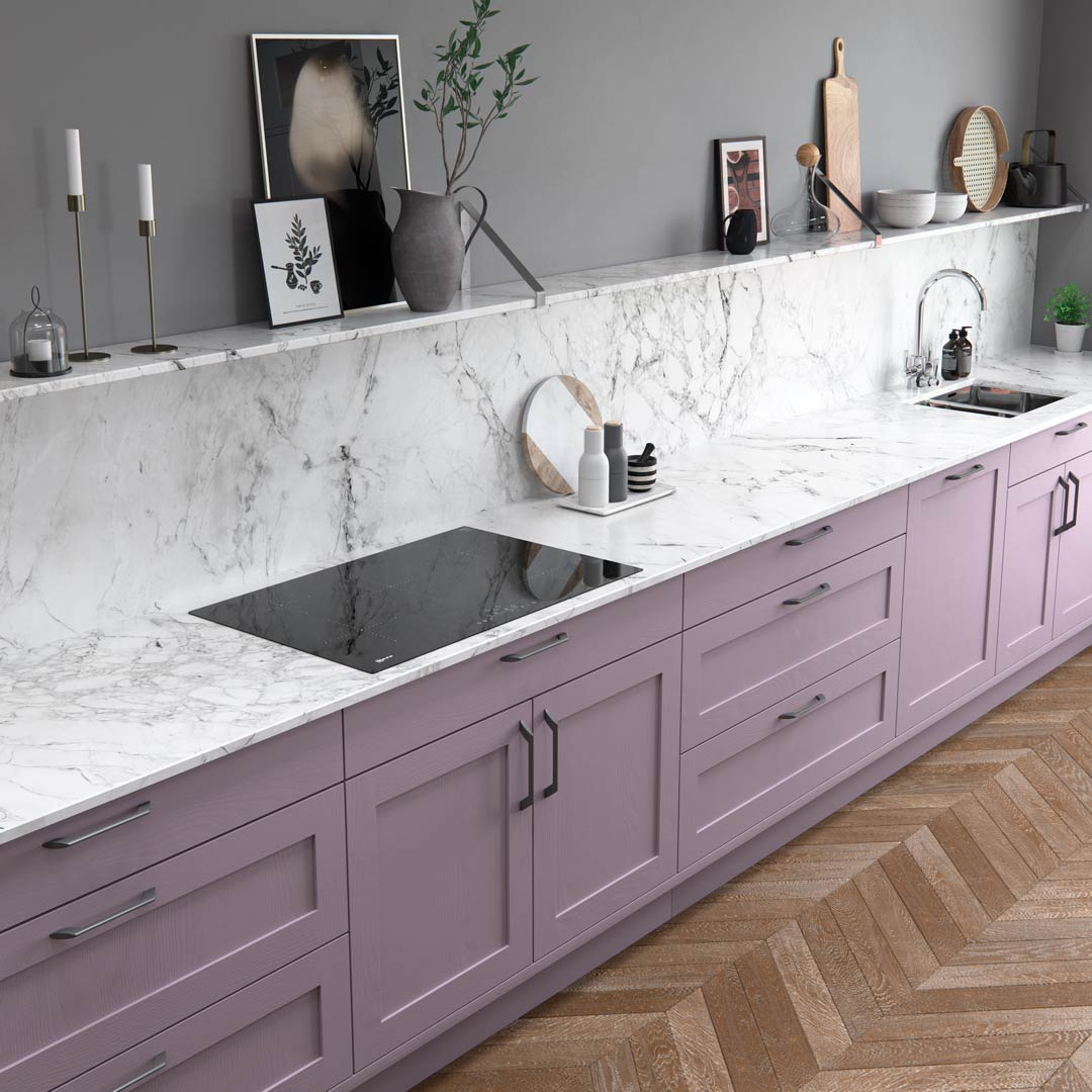 Wisteria Lilac Kitchen Cabinets by Sigma 3 Kitchens