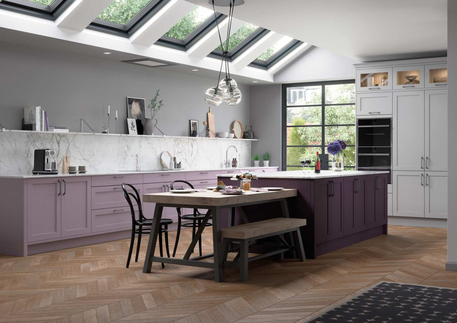 Wisteria New Lilac Kitchen Colour by Sigma 3 Kitchens