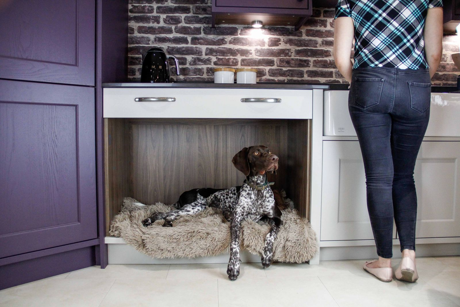 Sigma 3 Kitchens Pet and Dog Friendly Kitchen Design, Dog Bed Area