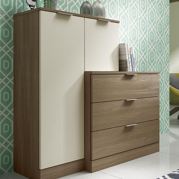 Wrap around cupboard