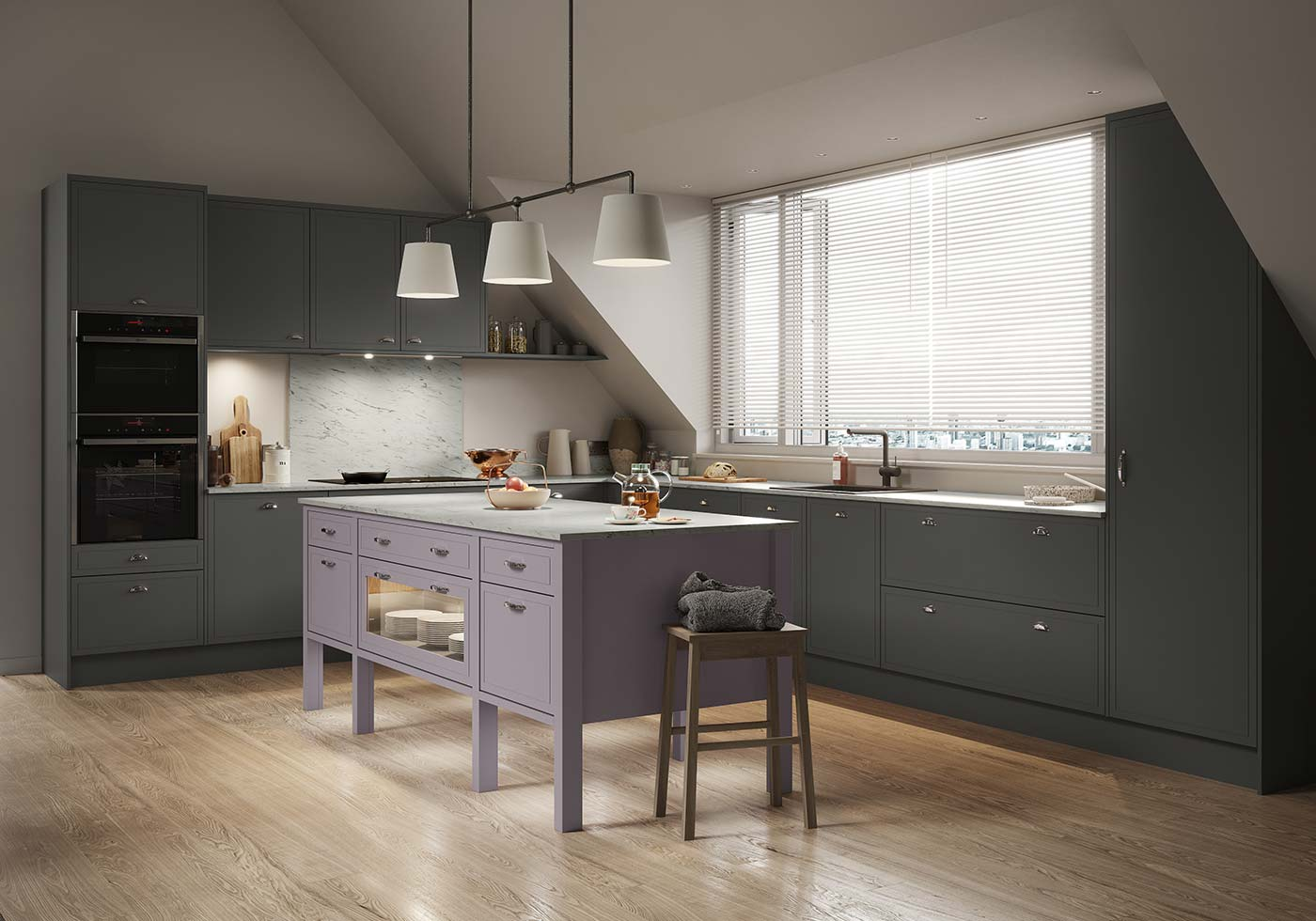 Modern inframe effect kitchen