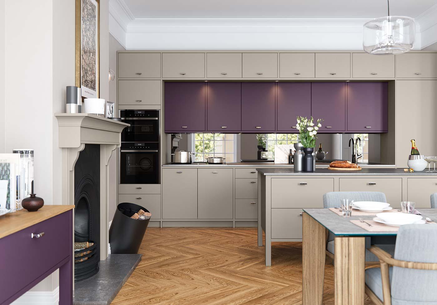 Purple Kitchens Purple Kitchen Ideas By Sigma 3 Kitchens