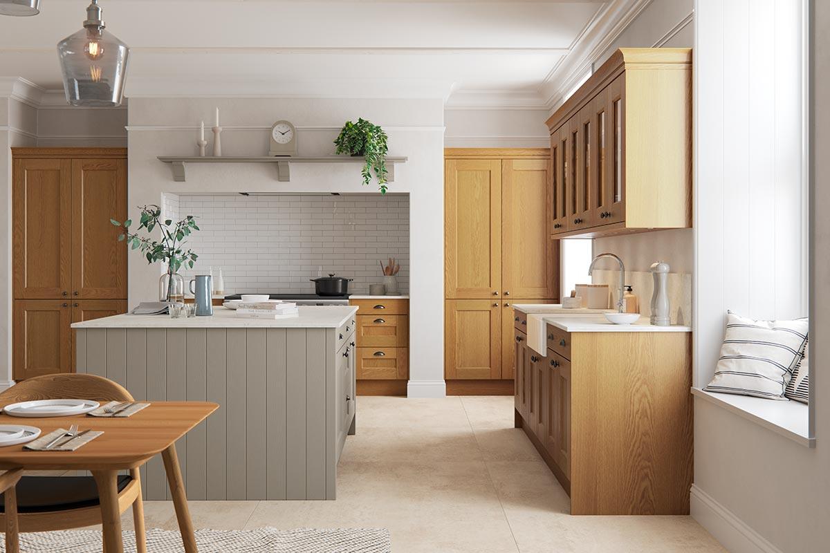 Solva Oak Shaker Kitchen Sigma 3 Kitchens