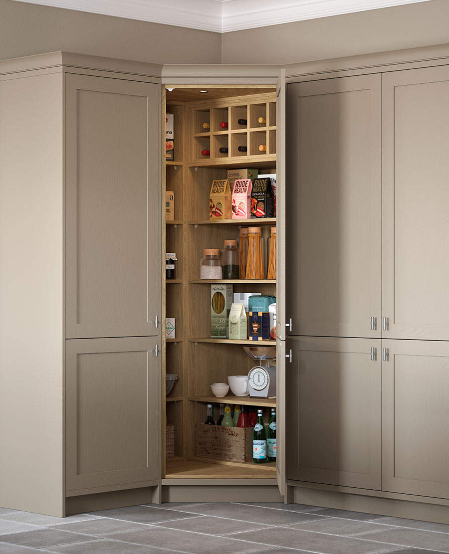 Our corner pantry & Corner Pantry | The Lansbury by Sigma 3 Kitchens
