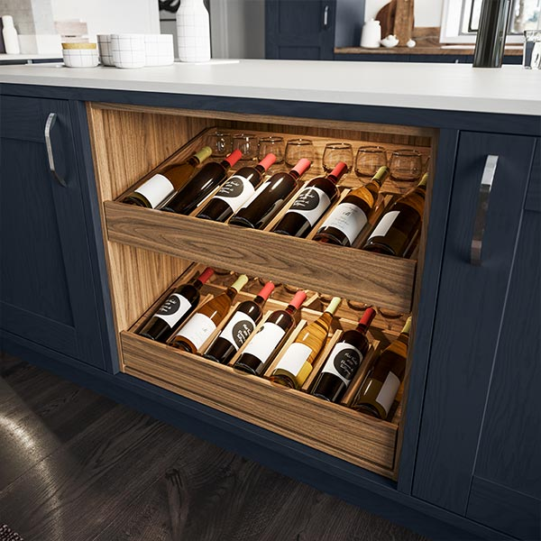 Wine display drawers