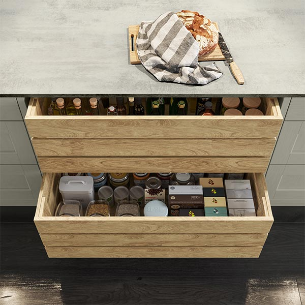 Wood crate drawers