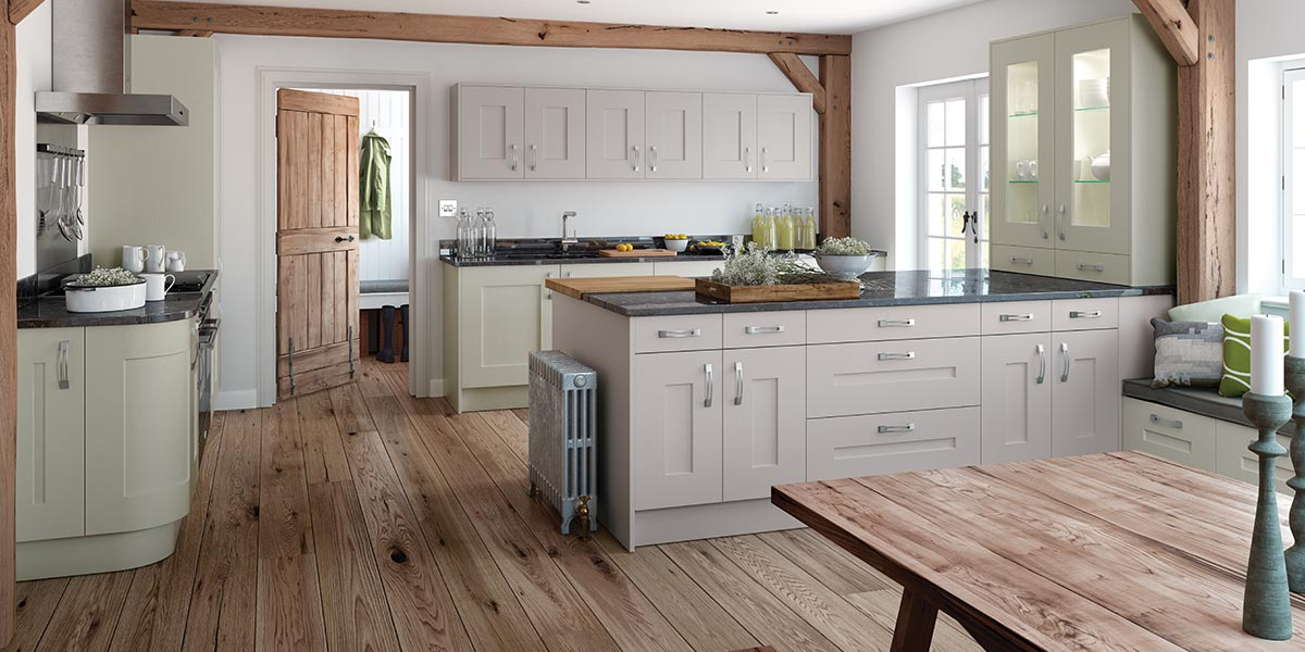 Solva painted shaker kitchen sigma 3 kitchens for Shaker style kitchen uk