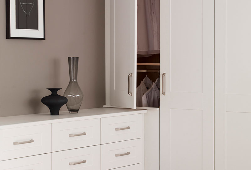 Our fitted wardrobes come with softclose as standard