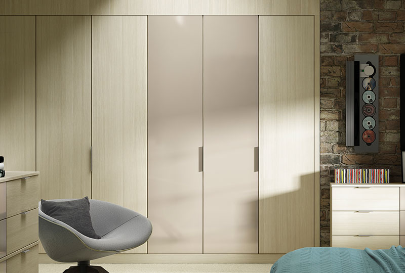 Modern fitted wardrobe design tip - use colour effectively