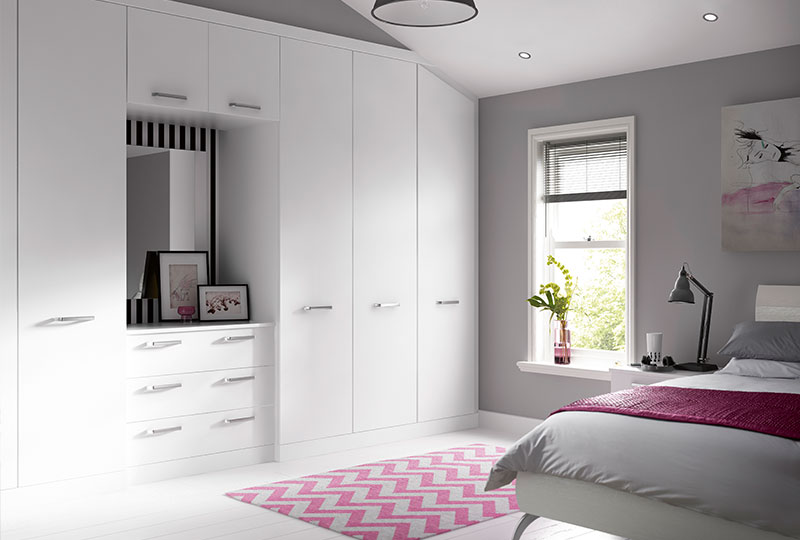 Modern fitted wardrobe design tip - less is more