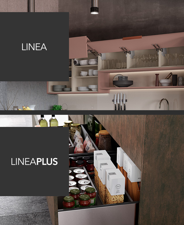 Linea and LineaPlus widest cabinets and drawers