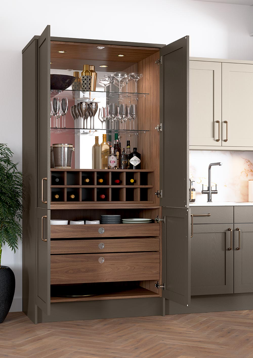 Drinks & Cocktail Cabinet | The Connery by Sigma 3 Kitchens