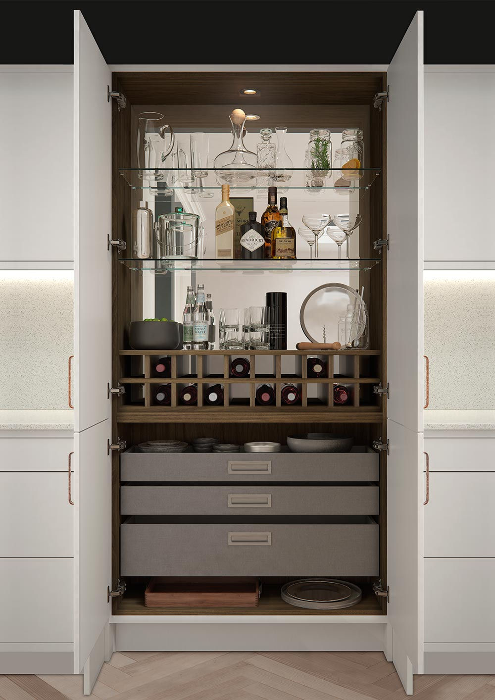 Drinks Amp Cocktail Cabinet The Connery By Sigma 3 Kitchens