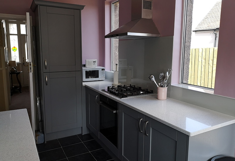 Ashbourne Light Grey with White Mirror Quartz