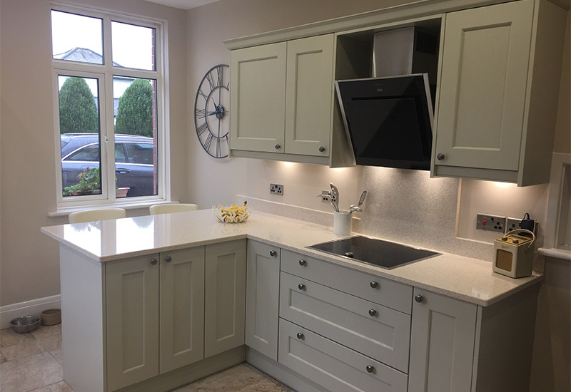 Ashbourne Mussel with Silestone Eco worktops