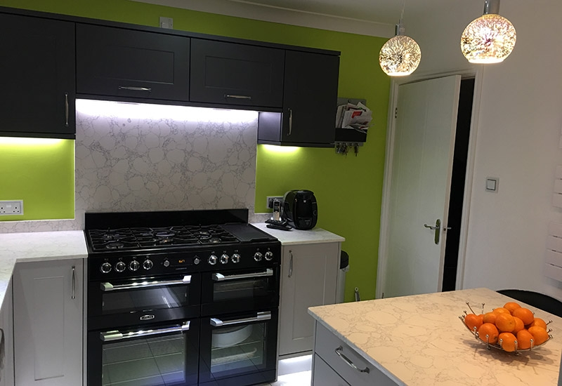 Chatsworth Light Grey and Graphite wall cabinets