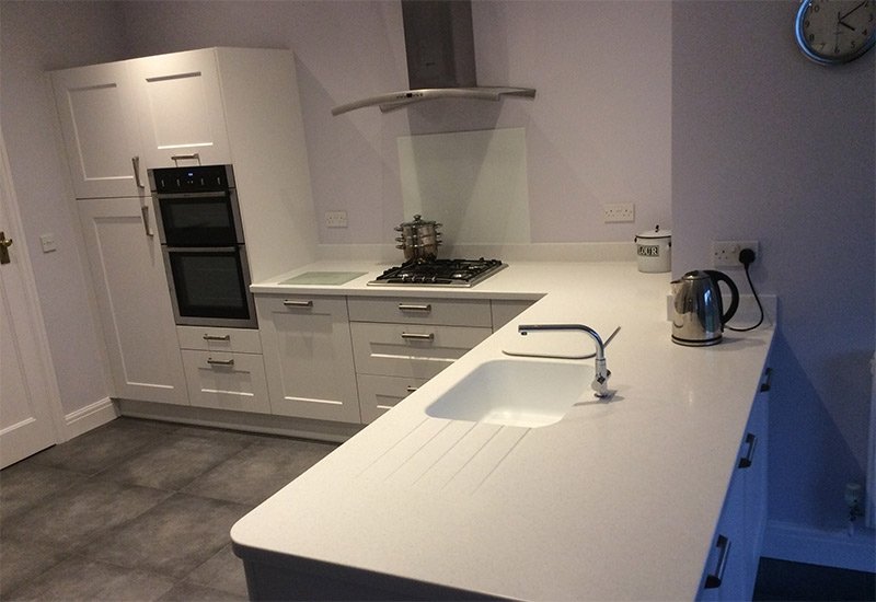 Hutton White with Everest Corian