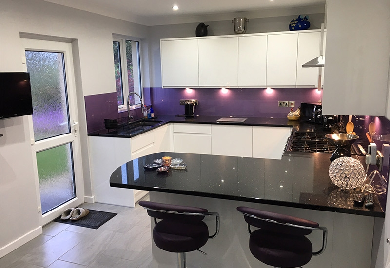 Interra White with Ebony Quartz worktops
