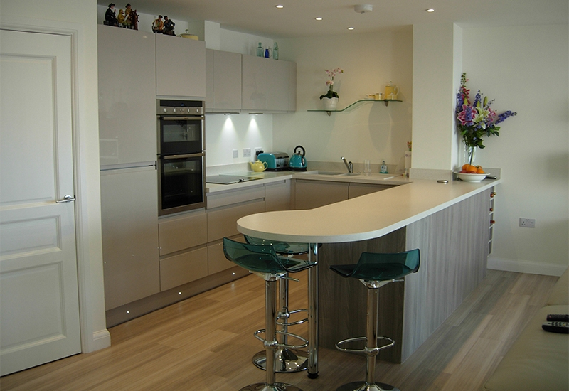 Italia Heritage Grey with Glacial Storm Worktops