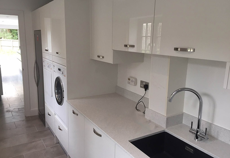 Lumina White Gloss Utility Room