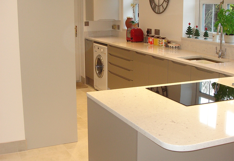 Luna Light Grey & Stone with Bianco River Silestone