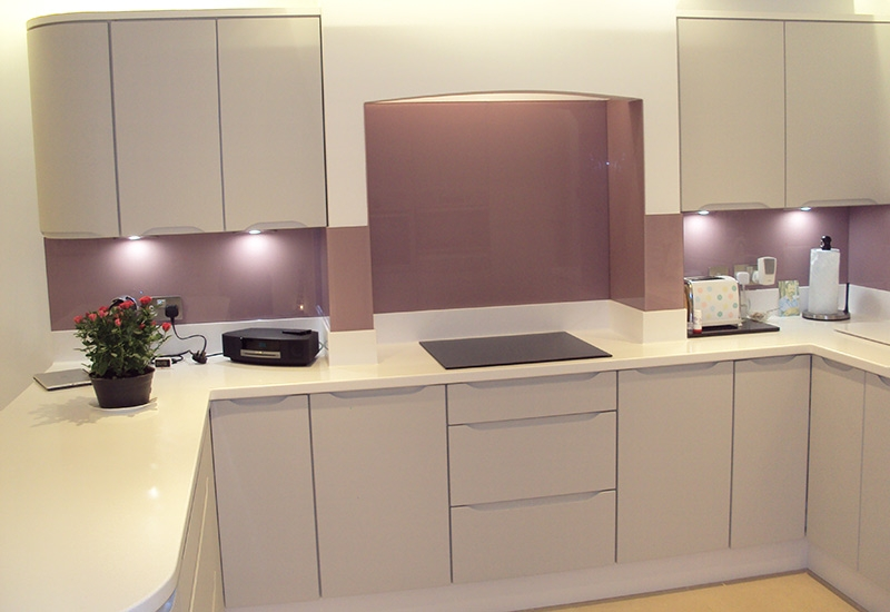 Luna Light Grey with Antactica Corian