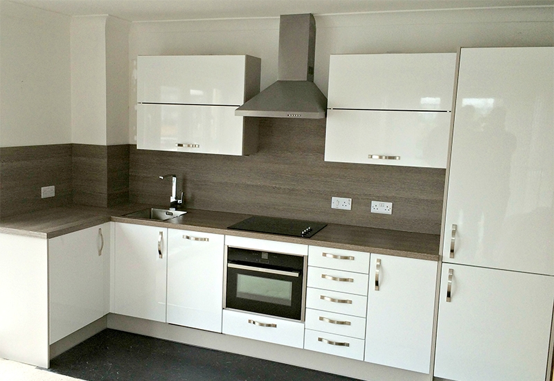 Nevada White with Clay Sangha Wenge worktops