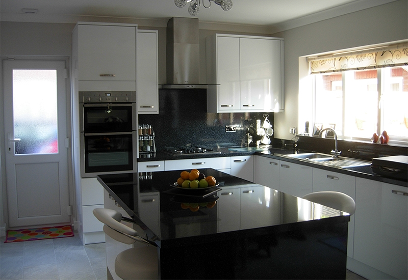 Nevada White with Astral Quartz Worktops