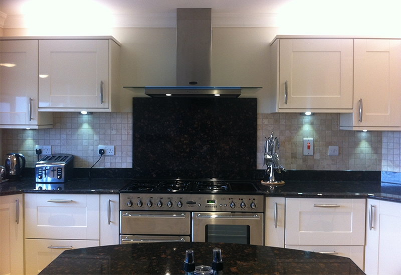 Seville Ivory Gloss with Tan Brown Granite