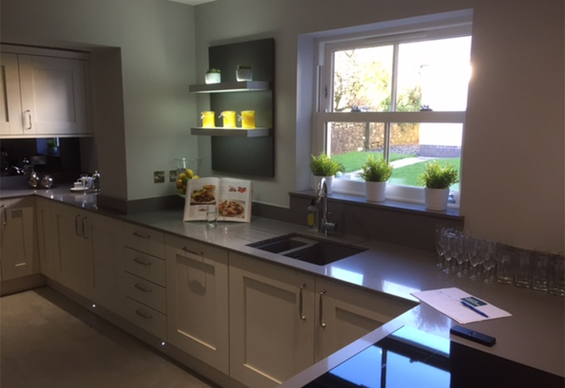 Westbury Mussel with Quartz worktops