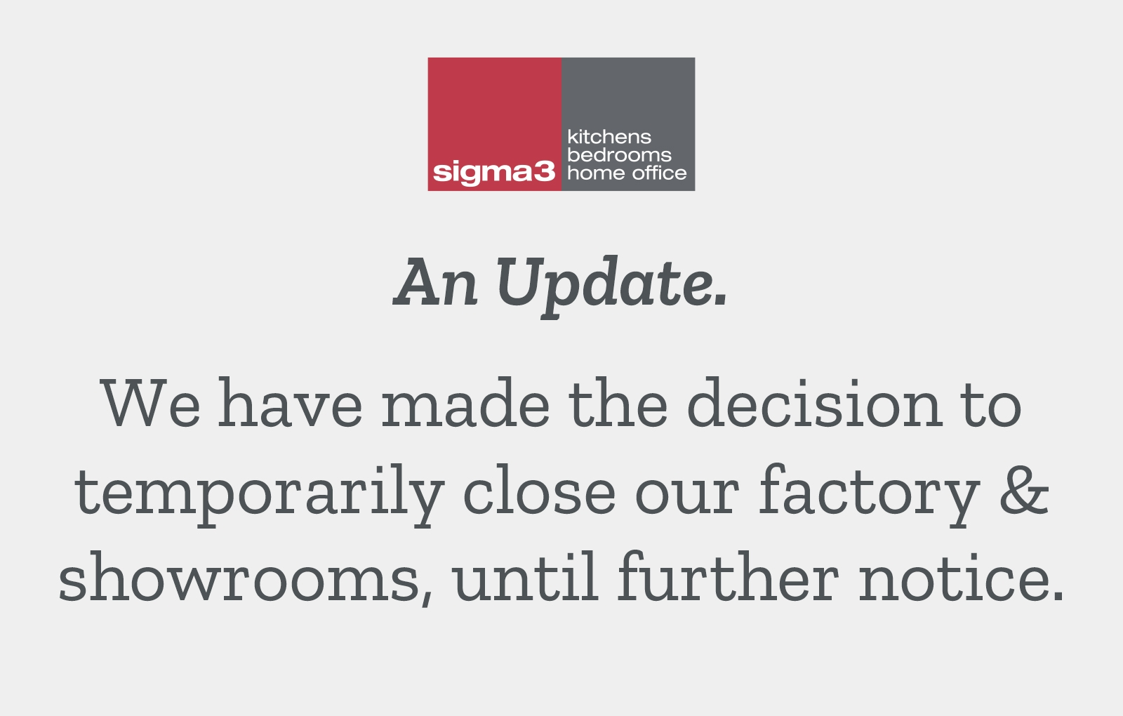 An Update From The Sigma 3 Kitchens Family