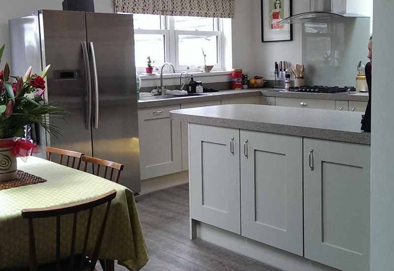 Solva Stone Grey With Sigma 3 Surface Worktops
