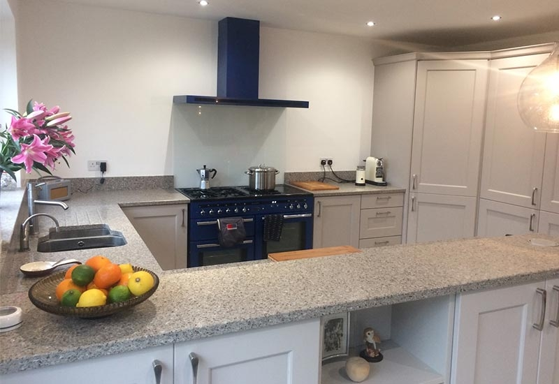 Ashbourne Heritage Grey with Everest Quartz Worktops